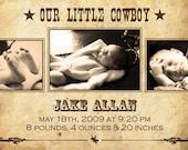 Our Little Cowboy Announcement