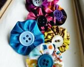 8 Thumbtacks, Custom -- Choose Any Color - Posie Thumbtacks, Made to Order, Decor, Set of 8