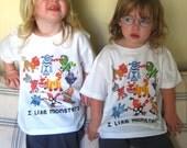 Happy Monsters Kids Tshirt