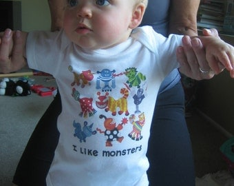 I Like Monsters Baby One Piece