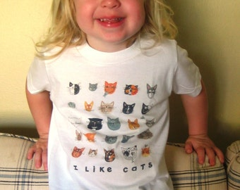 I Like Cats  kids Tshirt