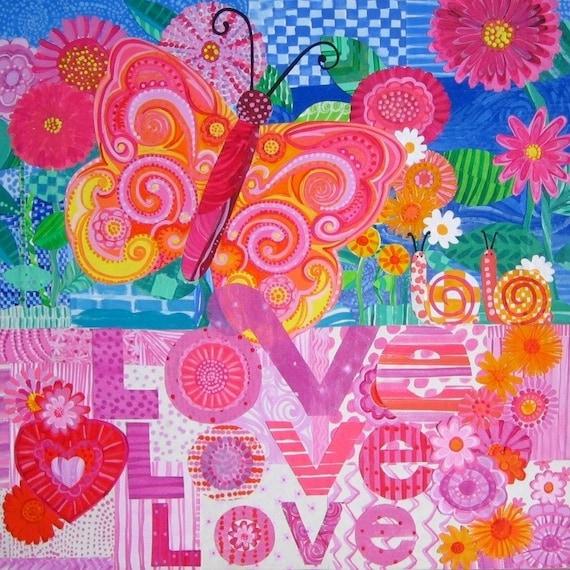 Love, Love, Love 12 X 12 Print