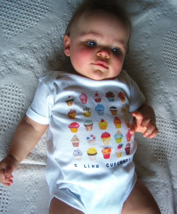 Cupcakes Baby Bodysuit