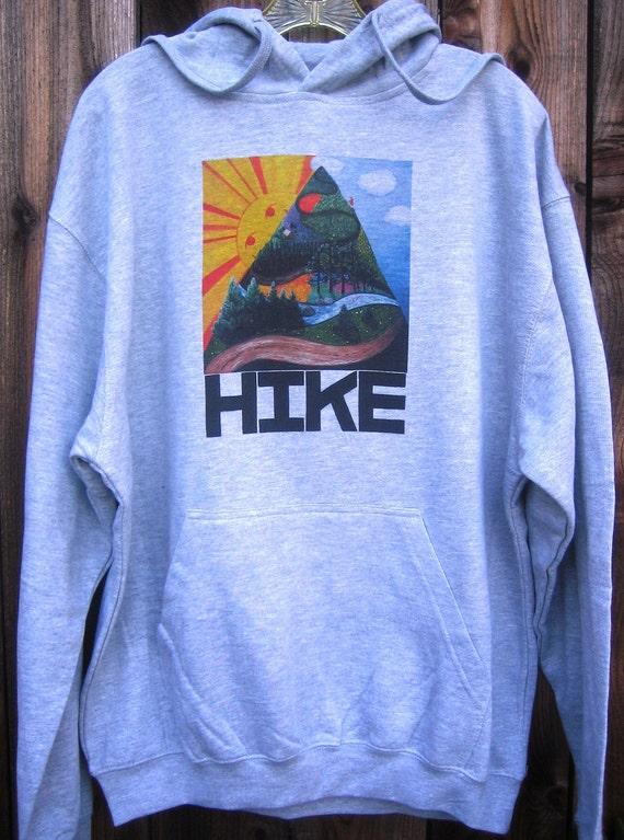 HIKE Grey Unisex Hoodie