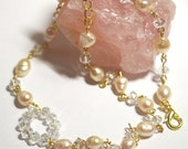 Baroque Pearls and Swarovski Beads Necklace SALE