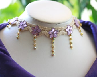 Victorian Edwardian Style Sparkly Chic Choker