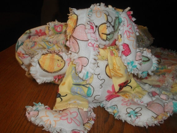 Baby Rag Quilt and Bunny