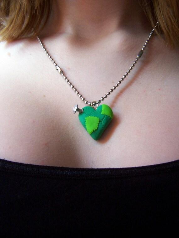 Frankenstein Heart Pendant