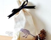 Love Bird - Eco Friendly Drawstring Ribbon bag