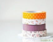 Adhesive Fabric Tape - Orange Polka Dots