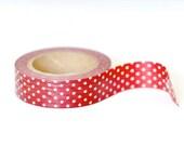 Washi Tape - Red & White Polka Dots