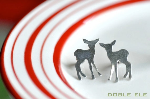 Oh My Deer Ear Posts - Matte