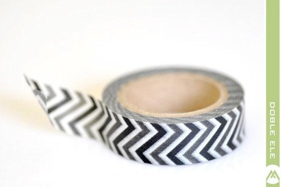 Washi Tape - Black Chevron