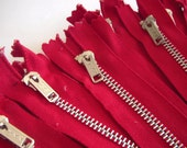 SALE, YKK Metal zippers in various length or color, Choose 50 zipper and pay only 12 Dollar