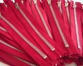 YKK Metal zippers, bulk zippers, nickel Zipper, closed end,