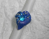 Mermaid's tail   OOAK one of a kind  ring, hand sculptured