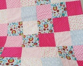 SALE - Baby girls quilt blanket matryoshka dolls quilt