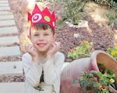 Red felt crown