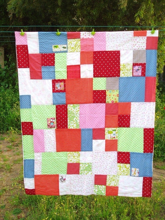 Colorful baby boys quilt baby girls quilt blanket kids quilt baby and toddler blanket
