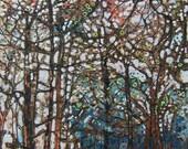 Autumn Trees Print From an Original Artwork