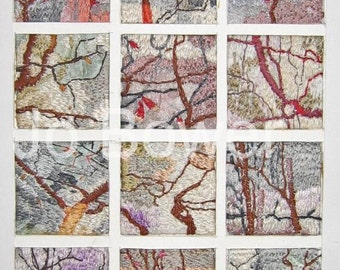 Textile Trees Embroidery