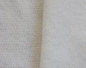 Organic Cotton white French Terry SALE Made in the USA by the yard