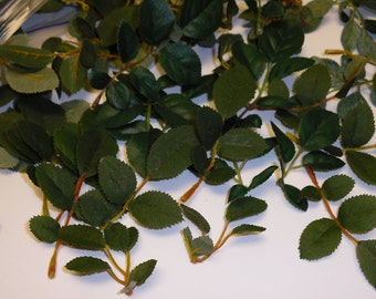 Artificial Leaves - One Gallon Bag of Tiny Artificial Rose Leaves - Greenery, Filler