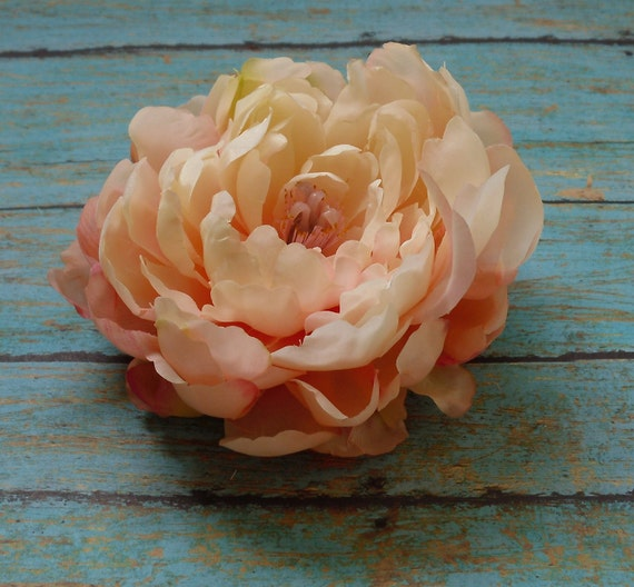 LAST ONE Small Peony in Shades of Peachy Pink - 4 Inches - Artificial Flowers