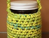 Crocheted Mason Jar Cozy - Margarita