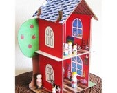 Barn Farmhouse Skin PDF Paper Printout Instant Download - Cardboard Dollhouse Pattern SOLD SEPARATELY - DollsAndDaydreams