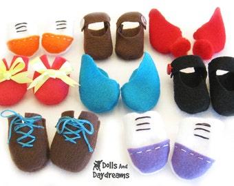 Doll Shoes PDF Sewing Pattern
