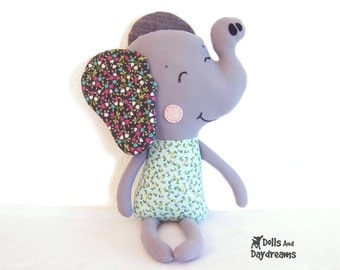 Elephant Sewing Pattern PDF Instant Download