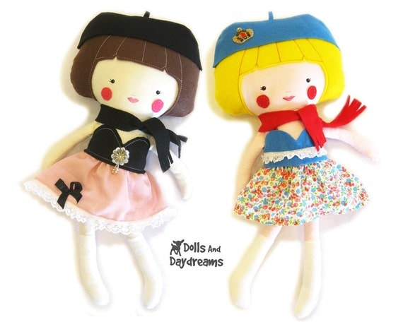 Dress Up Doll Sewing Pattern PDF Instant Download includes Doll clothes skirt top scarf hat