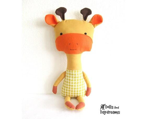 Giraffe PDF Sewing Pattern Softie Stuffed Toy