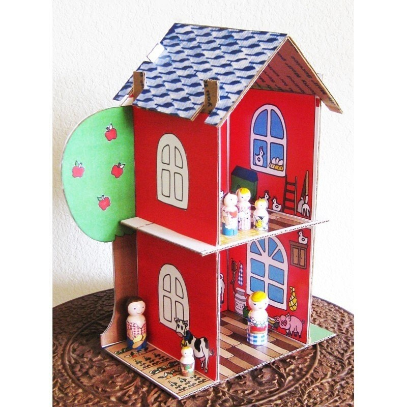 Cardboard Dollhouse Patterns
