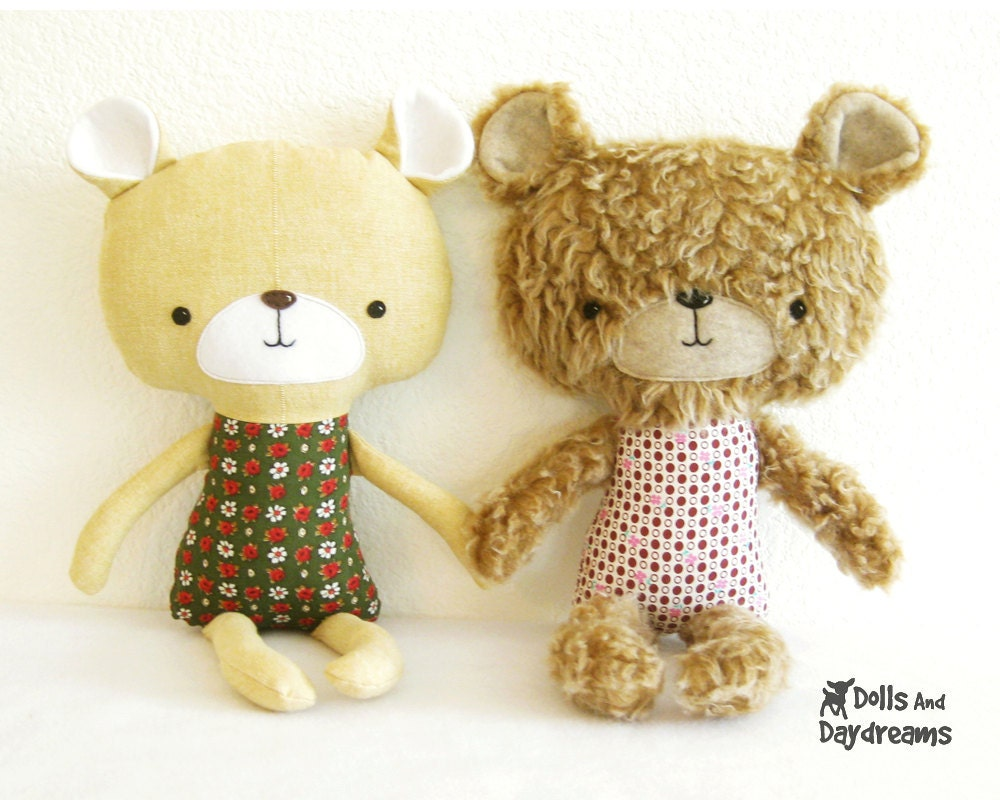 Teddy bear softie pdf sewing pattern stuffed toy plush from this is a digital file jeuxipadfo Images