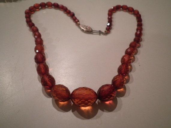 Beautiful Facet cut Genuine amber Necklace