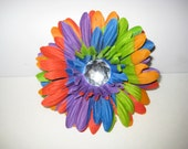 Rainbow Flower clip