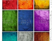Crayola Grunge Nine 2.5 x 3.5 Background Images ACEO ATCs Ephemera Embellishment Cards Digital Collage Sheet Tags 024