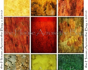 Fall Colors Autumn Backgrounds Digital Collage Sheet  ATC ACEO 2.5 x 3.5 size Texture Jewelry Cards Tags Printable Download