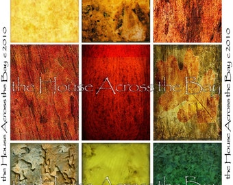 Fall Colors Autumn Backgrounds Digital Collage Sheet  ATC and ACEO 2.5 x 3.5 size 022
