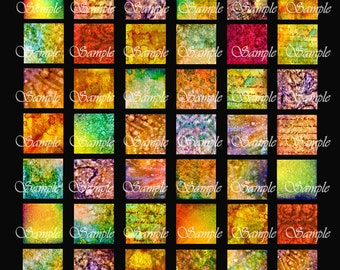 Inked Grunge Inchies 1 Inch Squares Digital Collage Pendant Images Scrabble Tiles Magnets Buttons Printable Instant Download