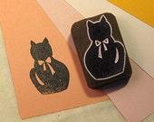 Ribbon cat (black)