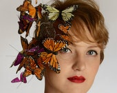 Butterfly Kisses statement headpiece fascinator