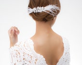 White Swan bridal Swarovski crystals and feathers fascinator