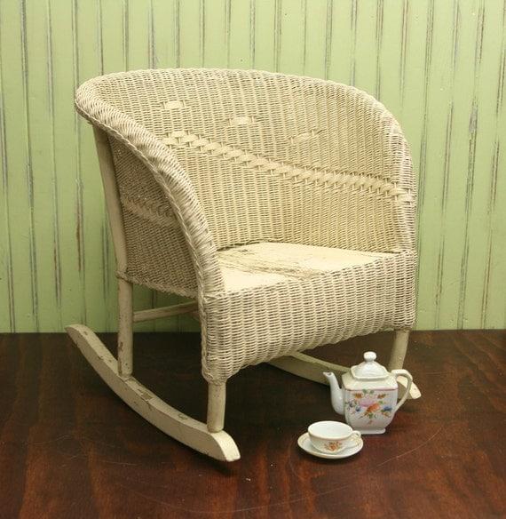 Child S Wicker Rocking Chair