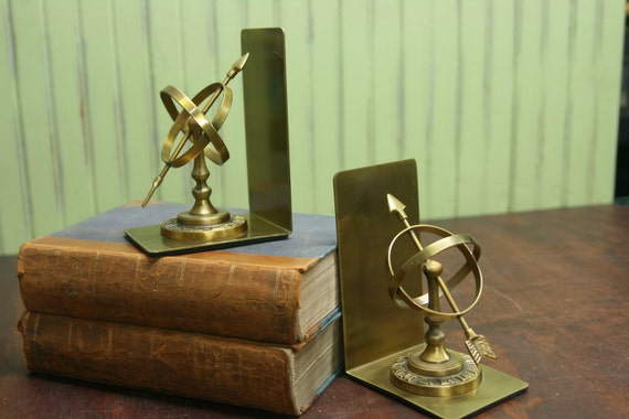 RESERVED......Armillary Brass Bookends
