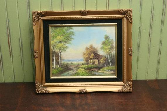 Vintage Landscape Oil Painting / Signed / Framed / Wall Art