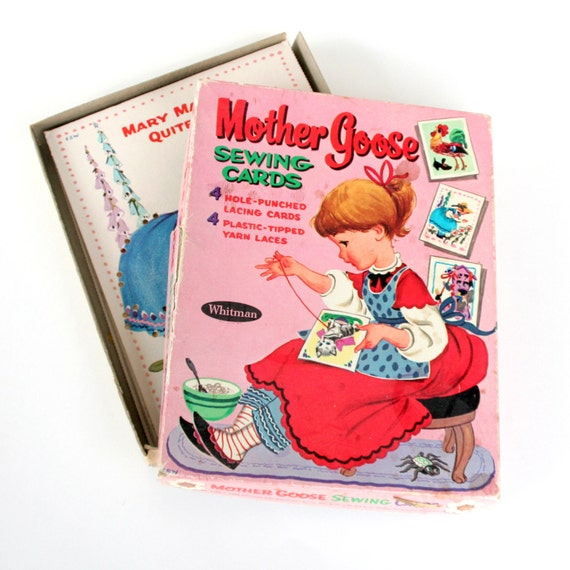 Mother Goose Learn-to-Sew Picture Cards