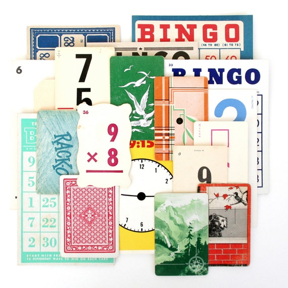 20 Imperfect Vintage Flashcards & Game Cards